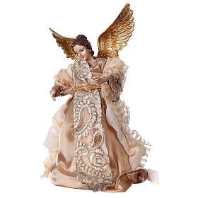 Angel 29.5 cm gold fabric and resin s2