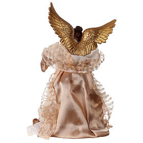 Angel 29.5 cm gold fabric and resin s4