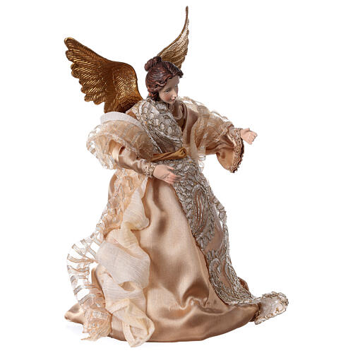 Angel 29.5 cm gold fabric and resin 3