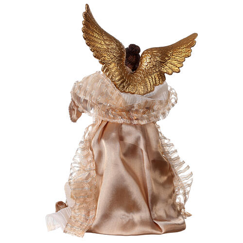 Angel 29.5 cm gold fabric and resin 4
