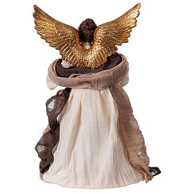 Angel in resin and burgundy fabric 28.5 cm s4