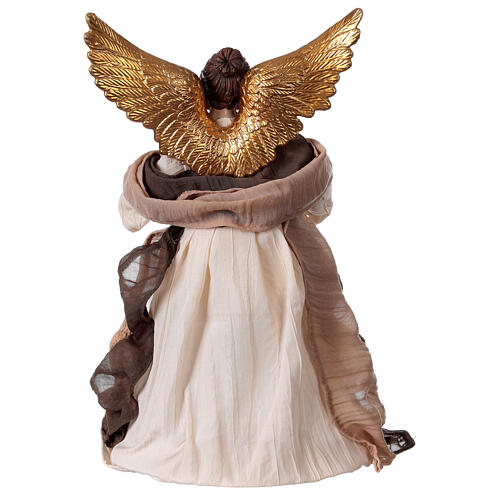 Angel in resin and burgundy fabric 28.5 cm 4