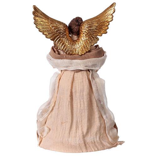 Angelo color crema in resina e tessuto 30 cm 4