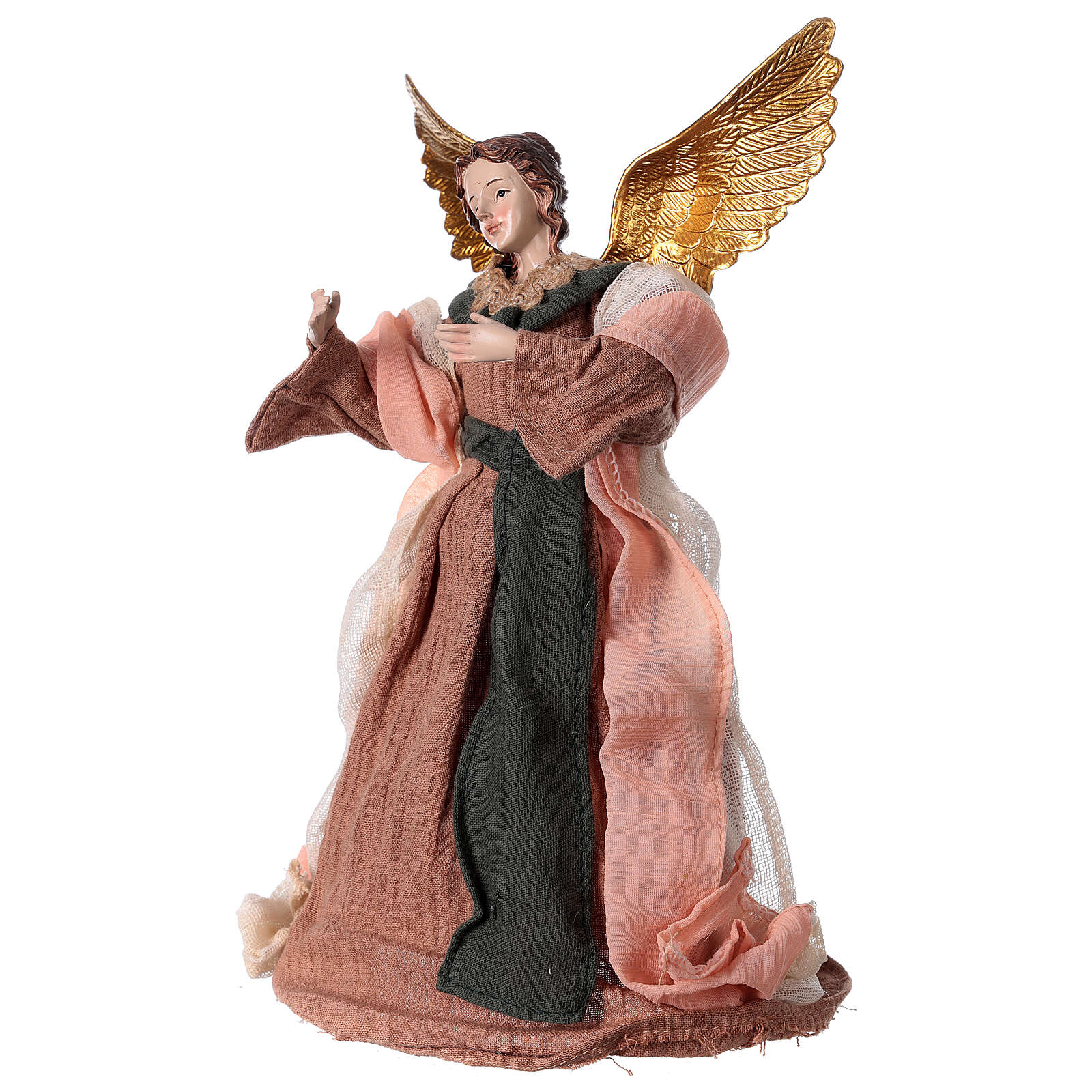 Angel 28.5 cm resin and beige pink fabric 3