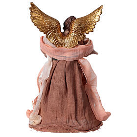 Angel 28.5 cm resin and beige pink fabric s4