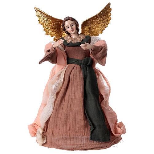 Angel 28.5 cm resin and beige pink fabric 1
