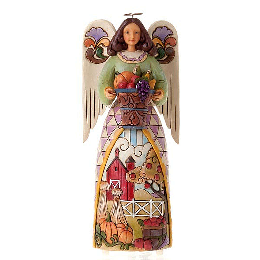 Autumn's Bounty Musical Angel figurine 4