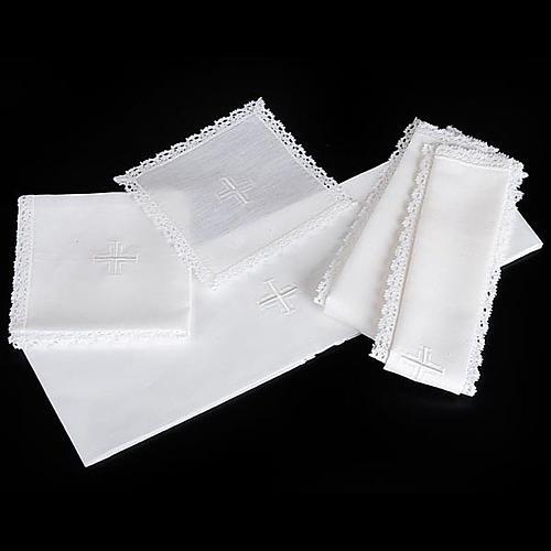 Servizio da messa puro lino 5 pezzi 4