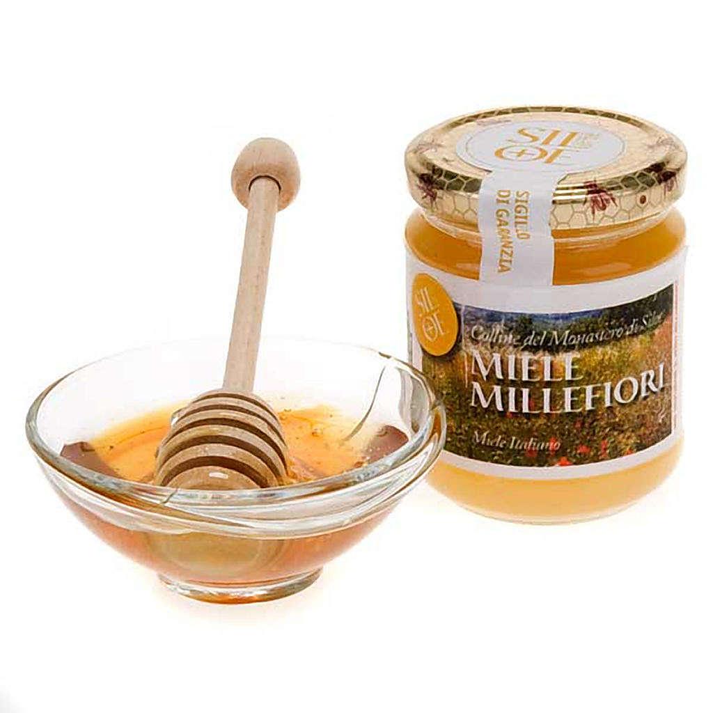 Miele millefiori 250 gr Monastero di Siloe 3