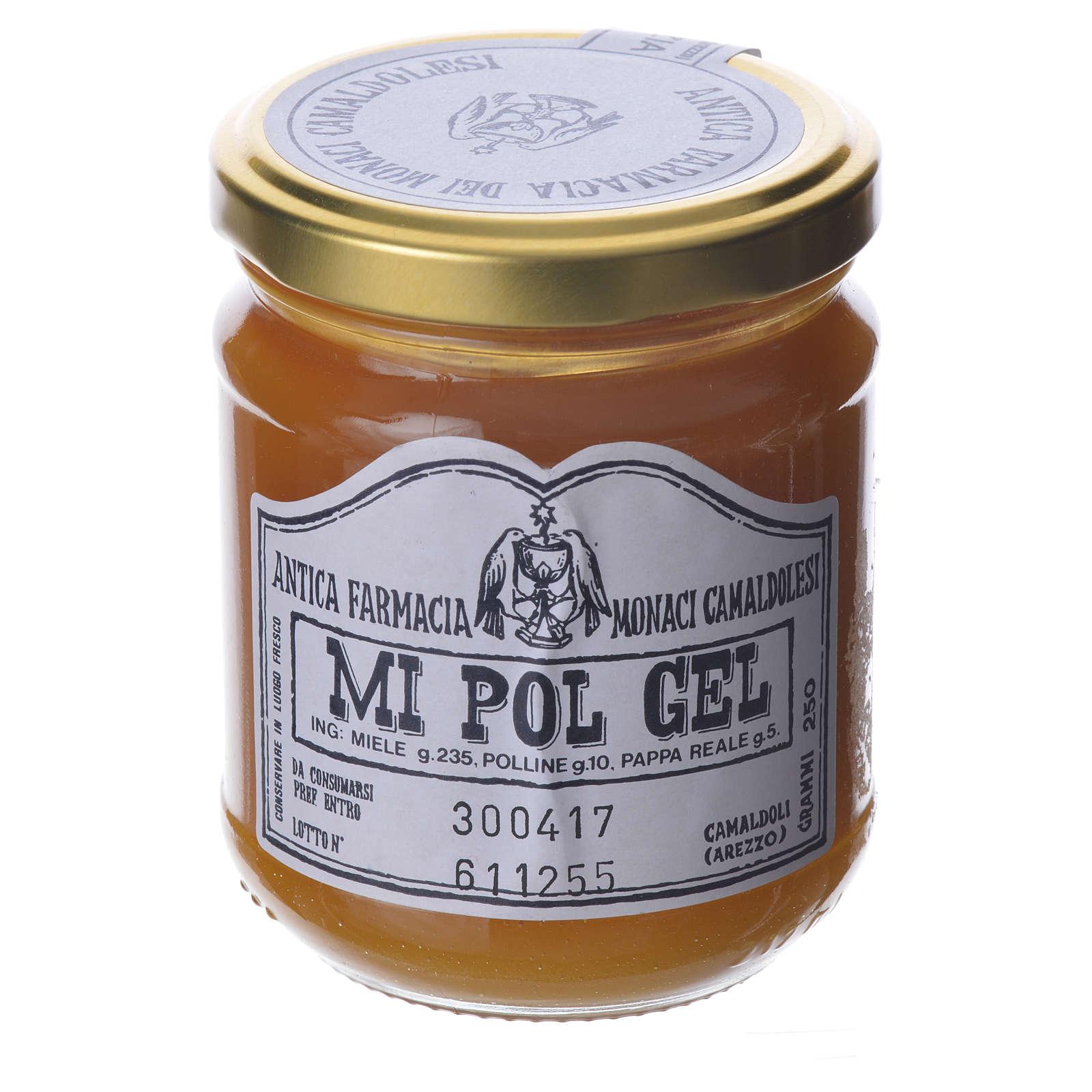 MI POL GEL , honey pollen and royal jelly preparation of Camaldoli 250 cm 3