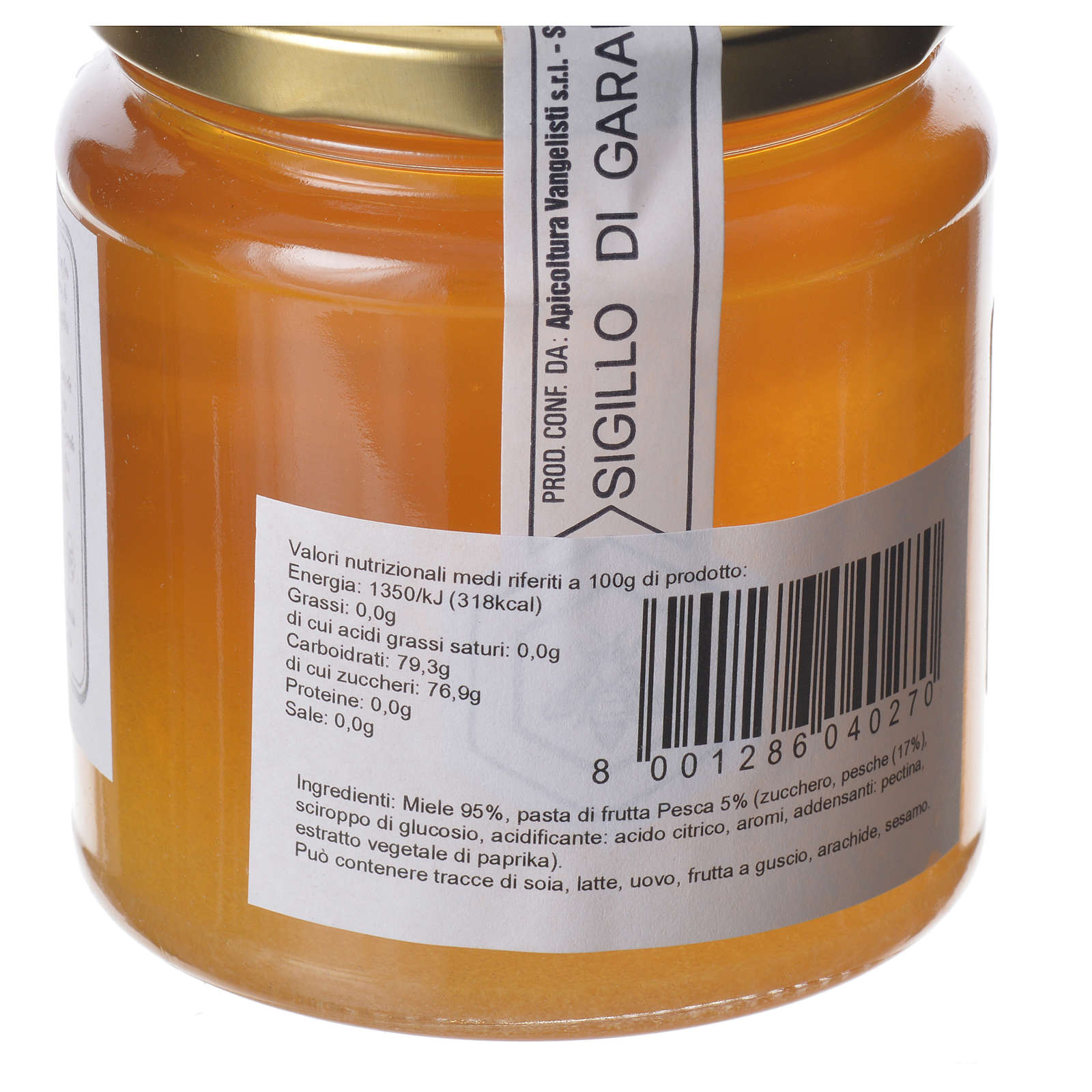 Honey with peach flavor 400g Camaldoli 3