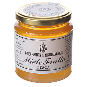 Honey with peach flavor 400g Camaldoli s1