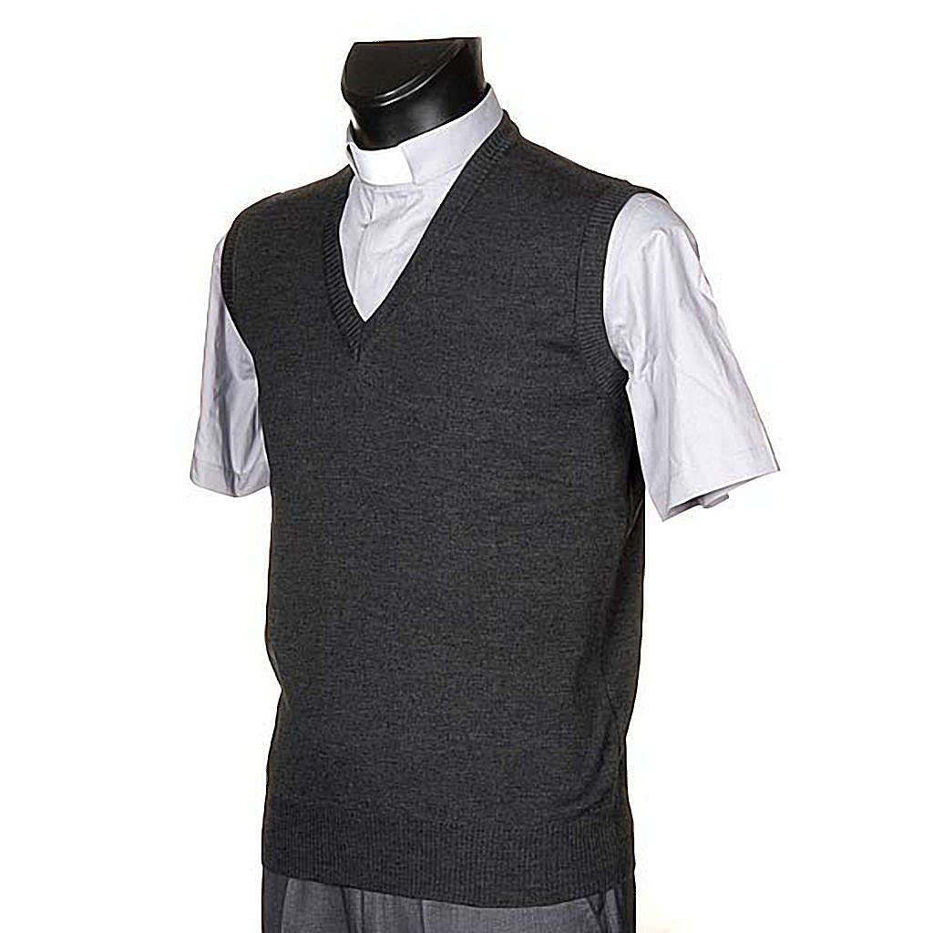 V-neck dark grey waistcoat 4
