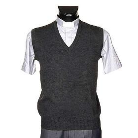 STOCK V-neck dark grey waistcoat s1