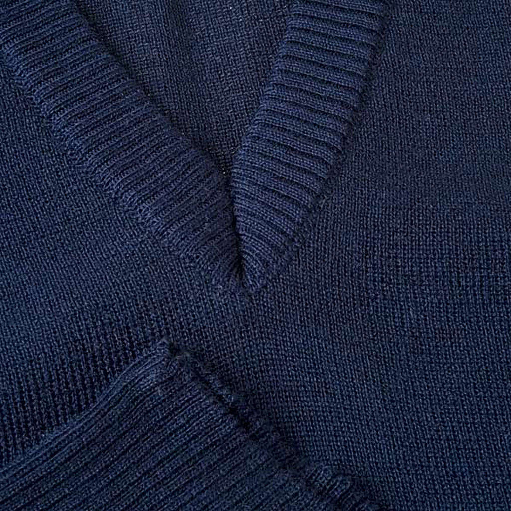 STOCK Chaleco con cuello en V azul 4