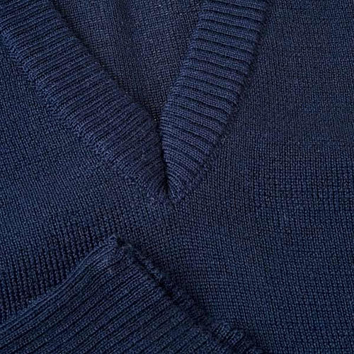 STOCK Chaleco con cuello en V azul 3