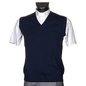 STOCK V-neck blue waistcoat s1