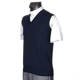 STOCK V-neck blue waistcoat s2