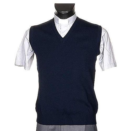 STOCK V-neck blue waistcoat 1