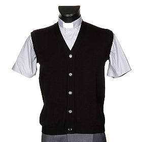 Black waiscoat with buttons and pockets s1