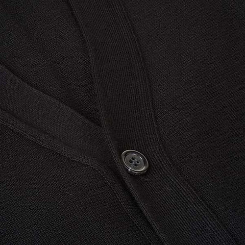 Black waiscoat with buttons and pockets 3