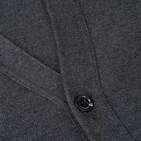 Dark grey waistcoat with buttons and pockets s3