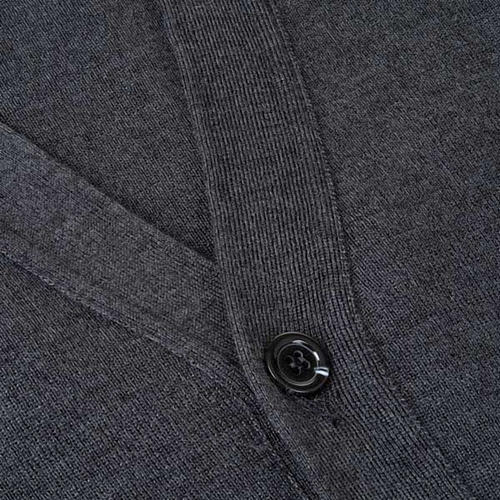 Dark grey waistcoat with buttons and pockets 3