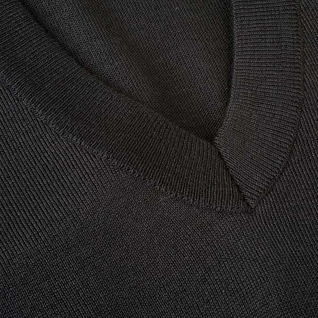 Gilet collo a V  maglia rasata 4