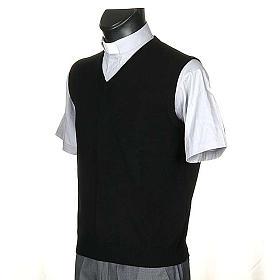 STOCK 100% cachemire V-neck waistcoat s2