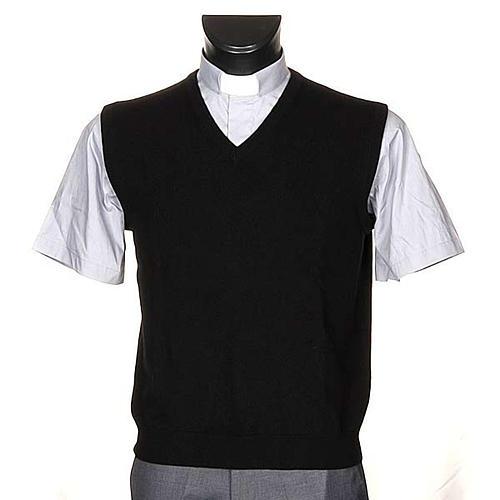 STOCK 100% cachemire V-neck waistcoat 1
