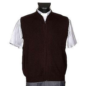 Gilet pour habit religieux, zip et poches s1