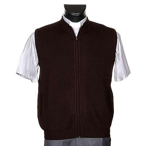 Gilet pour habit religieux, zip et poches 1