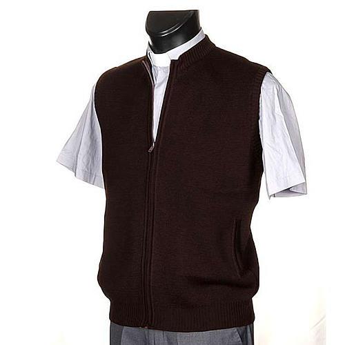 Gilet pour habit religieux, zip et poches 2