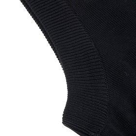 Geöffnete Weste mit Täschchen schwarz 100% Baumwolle s2