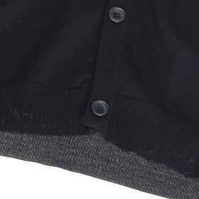 Geöffnete Weste mit Täschchen schwarz 100% Baumwolle s4