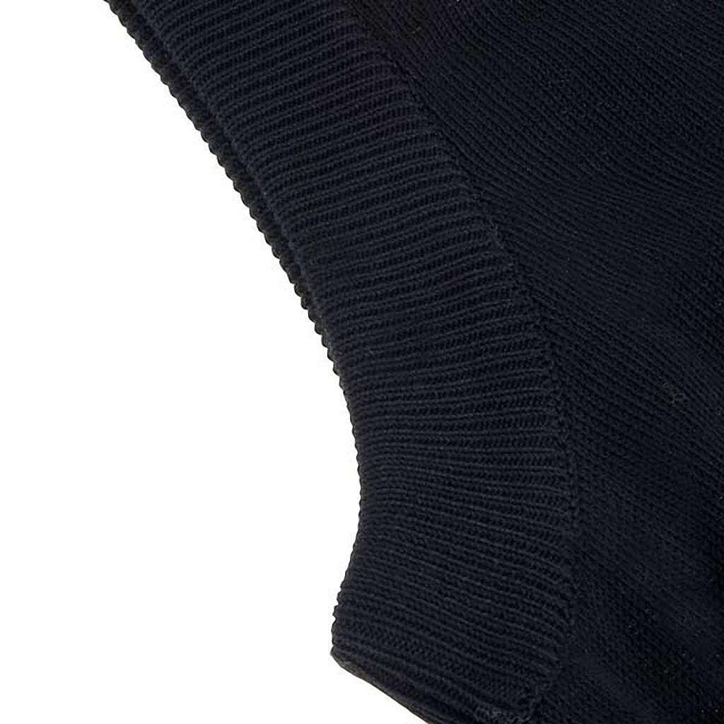 Gilet aperto nero cotone 100% 4
