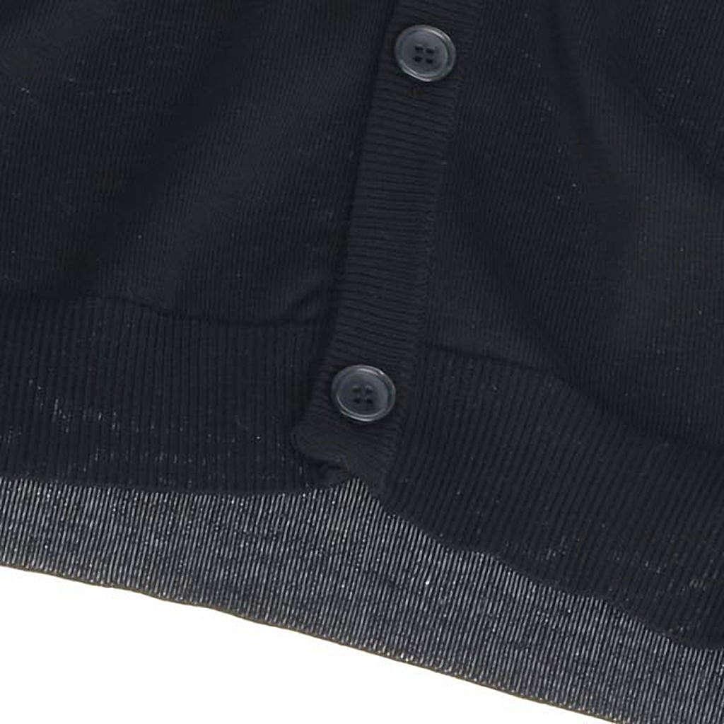 Colete de malha preto algodão 100% 4