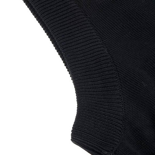 Open sleeveless cardigan, 100% black cotton 2