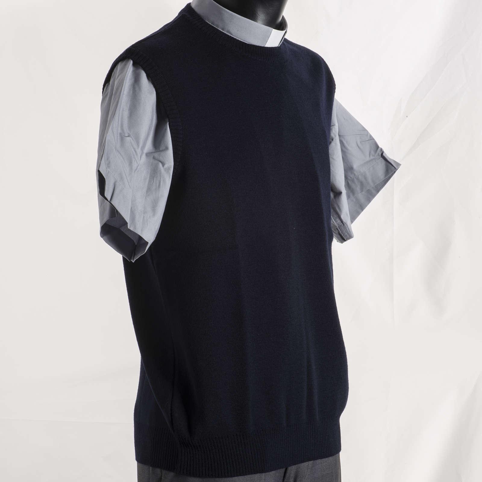Chaleco cuello redondo azul 4