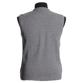 STOCK Crew-neck sleeveless cardigan, pale grey s2