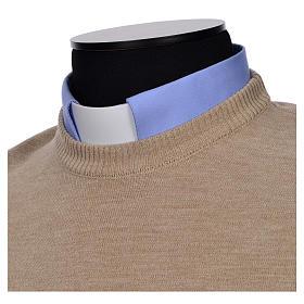 Crew-neck sleeveless cardigan, beige s8