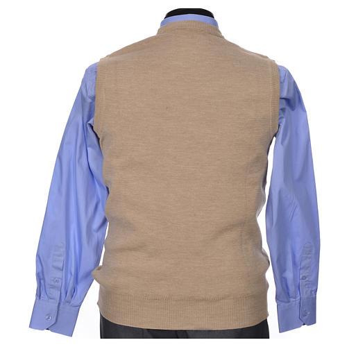 Crew-neck sleeveless cardigan, beige 6