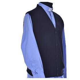STOCK Sleeveless black cardigan, 100% cashmere wool s2