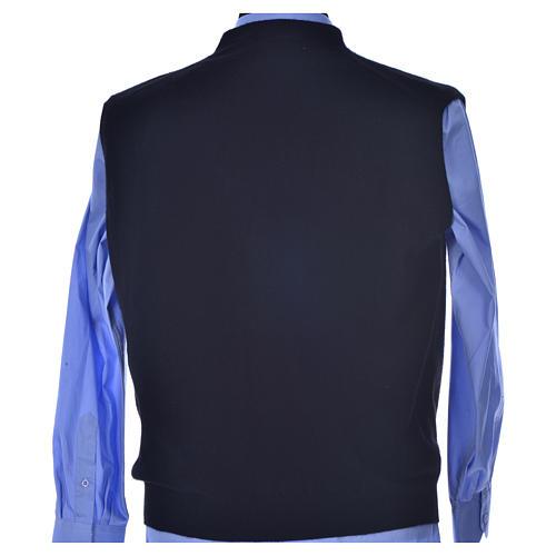STOCK Sleeveless black cardigan, 100% cashmere wool 3
