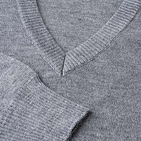 STOCK V-neck light grey pullover s3