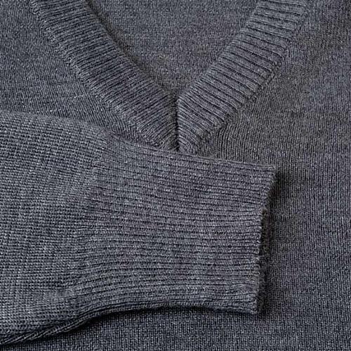 Pullover collo V grigio scuro 3