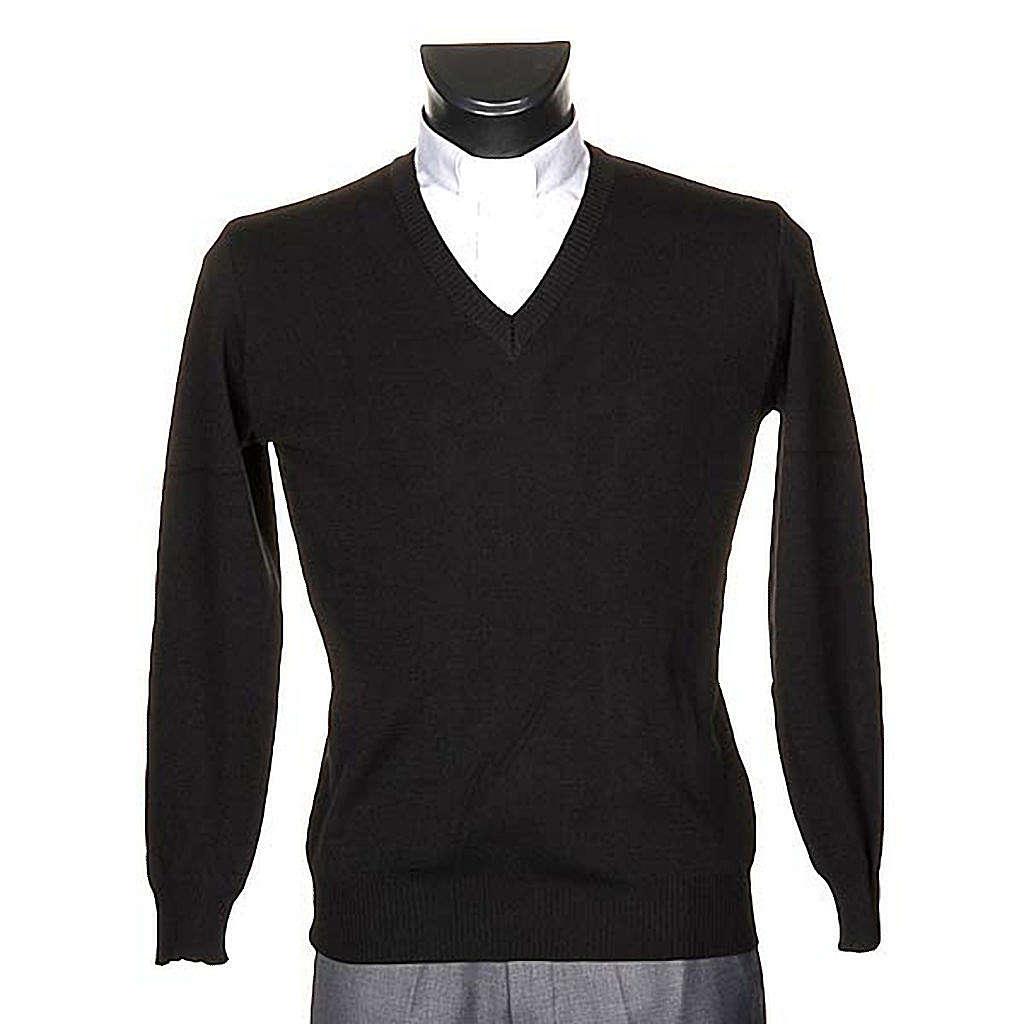 Pullover V-Kragen Schwarz 4