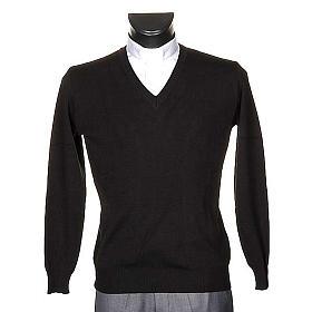 Jersey con cuello V negro s1
