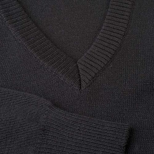 Pullover collo V nero 3