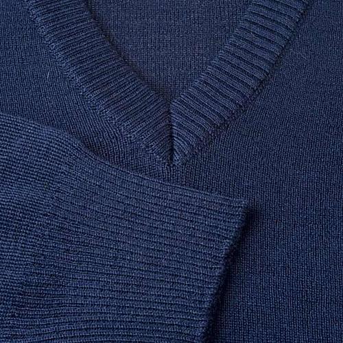 Pullover, ouverture en V, bleu 3